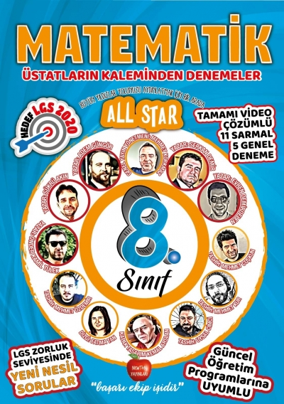 8.SINIF ALL STAR MATEMATİK DENEMELER ÜST